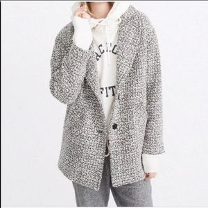Abercrombie & Fitch Black & White Boyfriend Coat